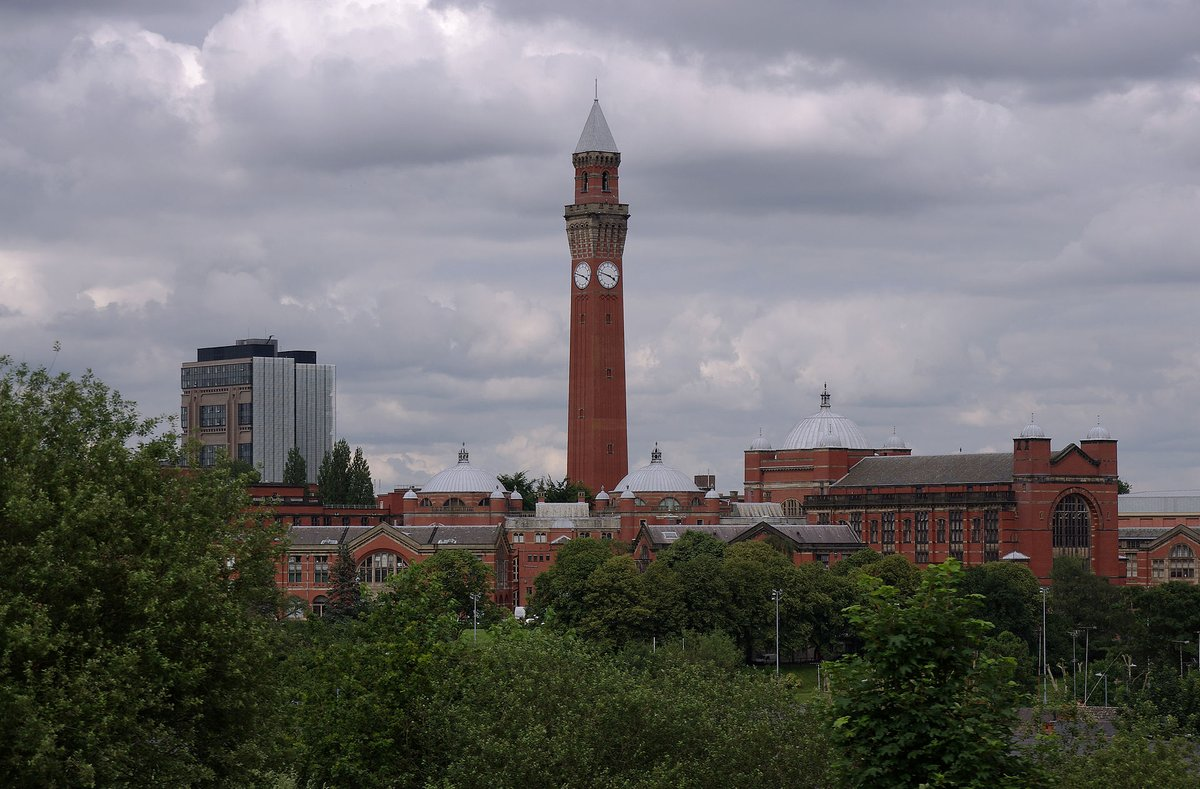University of Birmingham - The University of Birmingham, viewed from a train on the Cross Country Route
