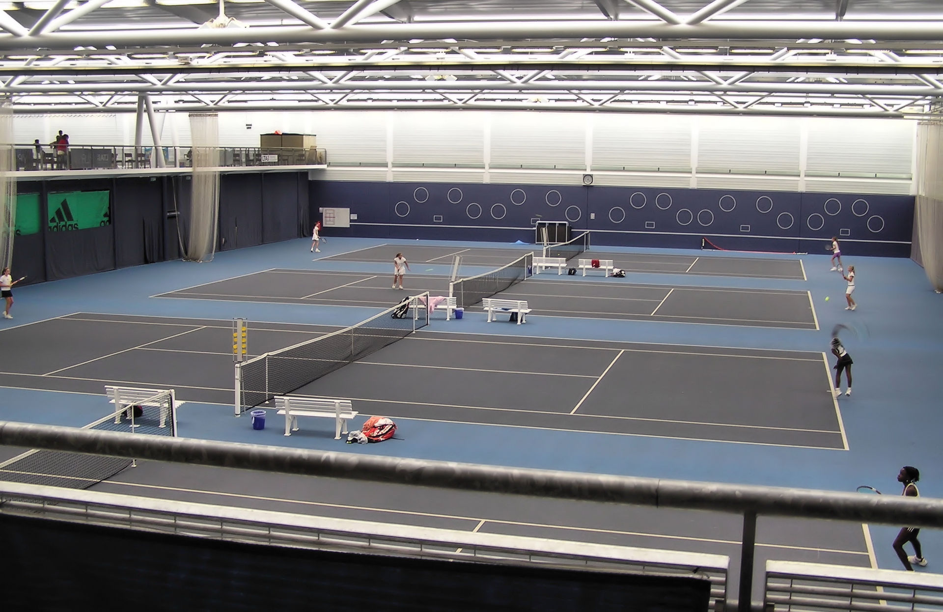 University of Bath - The University of Bath Sports Training Village indoor tennis courts, Bath, England